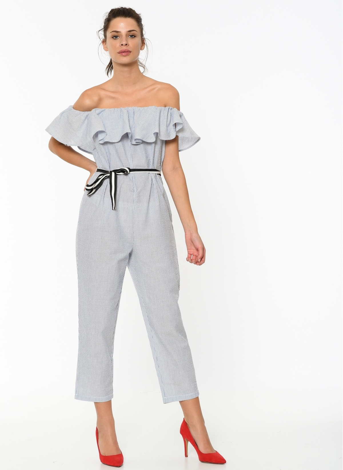 Only Tulum 15155984 Onlshirt Frill Jumpsuit Wvn – 79.9 TL
